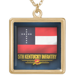 5th Kentucky Infantry Square Pendant Necklace