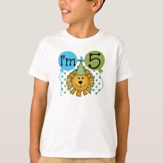 5th Lion Birthday T-Shirt