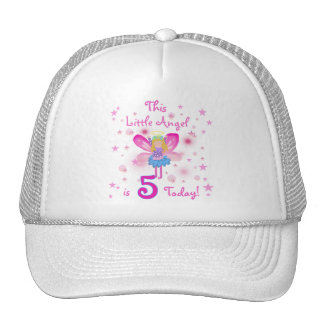 5th Little Angel Birthday Tshirts and Gifts Trucker Hat