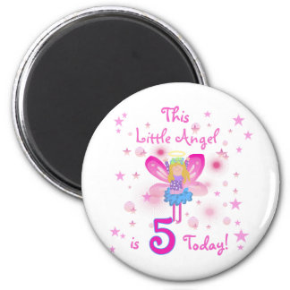 5th Little Angel Birthday Tshirts and Gifts Fridge Magnets