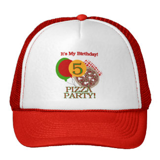 5th Pizza Party Birthday Tshirts and Gifts Trucker Hat