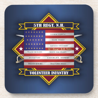 5th Regiment New Hampshire Volunteers Drink Coaster