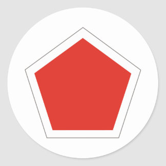 5th Regimental Combat Team Classic Round Sticker