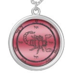5th seal of mars round pendant necklace