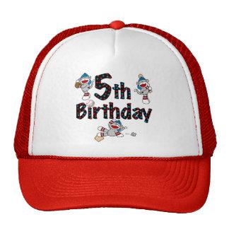5th Sock Monkey Baseball Birthday Trucker Hat