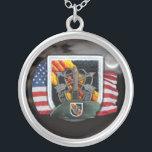 "5th Special Forces flash vietnam vets Necklace<br><div class=""desc"">5th Special Forces Green Berets flash vietnam nam  fort bragg veterans mens girls necklace.Ck out more special forces at:  www.zazzle.com/willeboy*</div>"