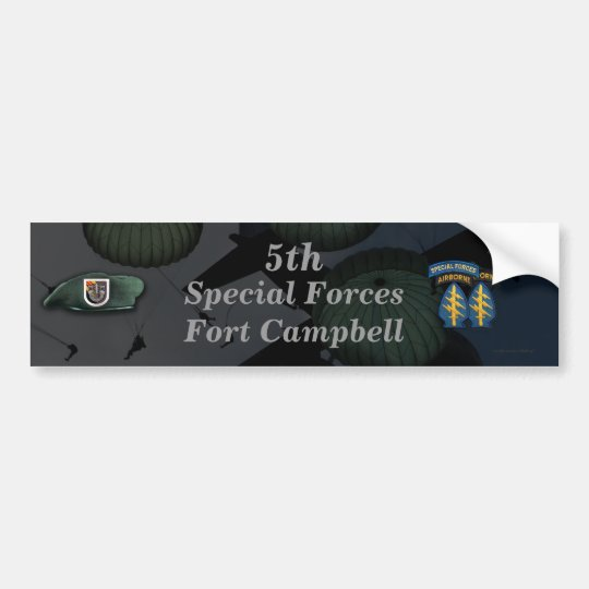 5th special forces fort campbell Bumper Sticker