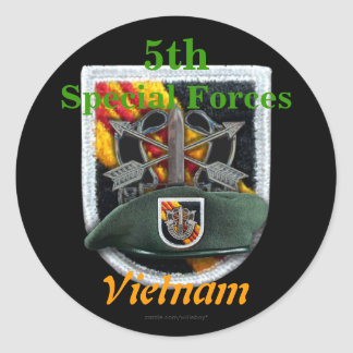 5th Special forces Green Berets flash nam Sticker