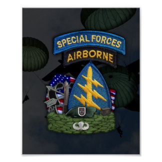 5th special forces green berets flash print