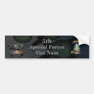 5th special forces green berets nam Bumper Sticker Car Bumper Sticker