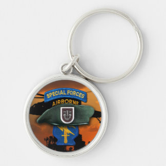 5th Special Forces Green Berets SF SFG SOF Vets Keychain