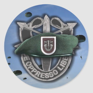 5th Special forces Green Berets veterans vets Stic Classic Round Sticker