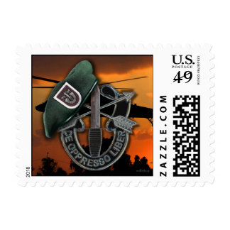 5th Special Forces Green Berets vets veterans LRRP Postage