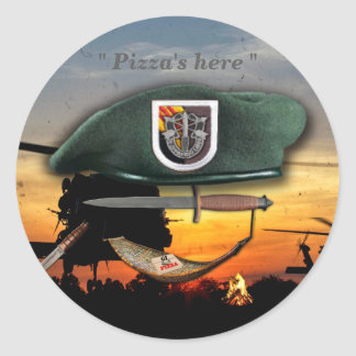 5th Special forces Green Berets vietnam Iraq war Classic Round Sticker