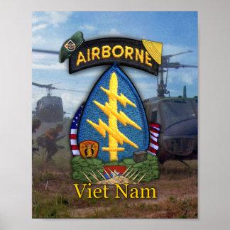 5th special forces green berets vietnam war print