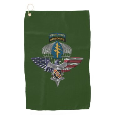 5th Special Forces Group (Airborne) Eagle Golf Towel