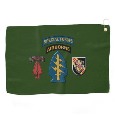 5th Special Forces Group (Airborne) Patch Design Golf Towel