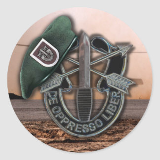 5th Special forces SFG SF Green Berets vets Classic Round Sticker