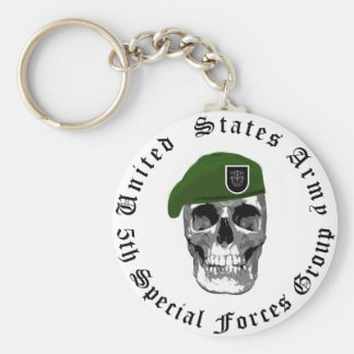 5th Special Forces Skull Keychain