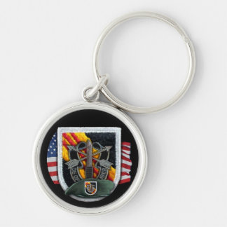 5th special forces vietnam flash vets Keychain