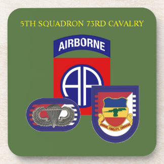 5TH SQUADRON 73RD CAVALRY DRINK COASTERS