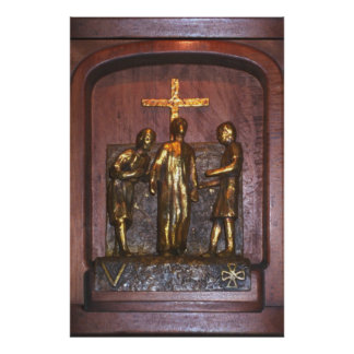 5th Station of the Cross Print