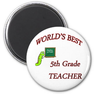 5th Teacher 2 Inch Round Magnet