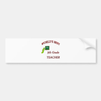 5th Teacher Bumper Sticker