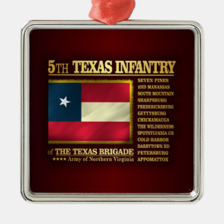 5th Texas Infantry (BA2) Metal Ornament
