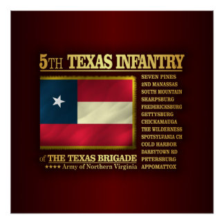 5th Texas Infantry (BA2) Poster