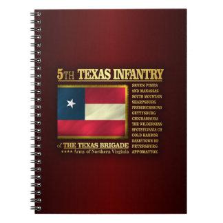 5th Texas Infantry (BA2) Spiral Notebook