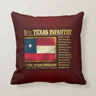 5th Texas Infantry (BA2) Throw Pillow