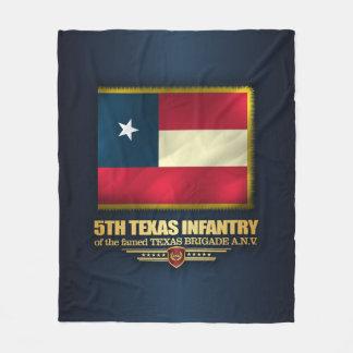 5th Texas Infantry Fleece Blanket