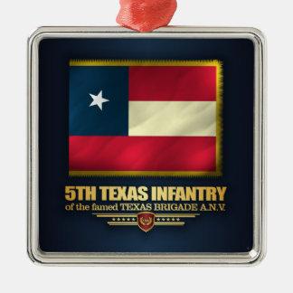 5th Texas Infantry Metal Ornament
