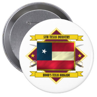 5th Texas Infantry Pinback Button