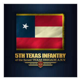 5th Texas Infantry Poster