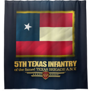 5th Texas Infantry Shower Curtain