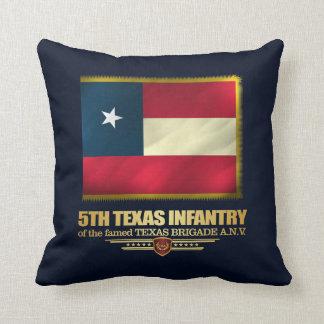 5th Texas Infantry Throw Pillow