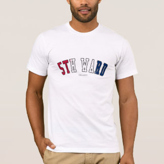 5th Ward in Texas state flag colors T-Shirt
