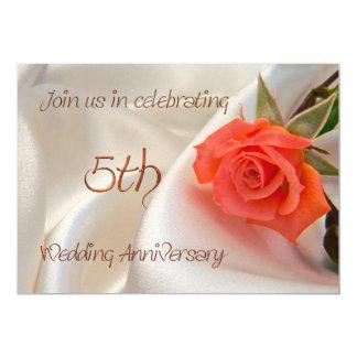 5th wedding anniverary party invitation
