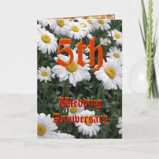 5th wedding anniversary card - Daisy