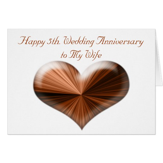 5th. Wedding Anniversary Card to Husband and Wife Zazzle