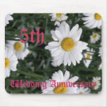 5th wedding anniversary - Daisy Mouse Pads