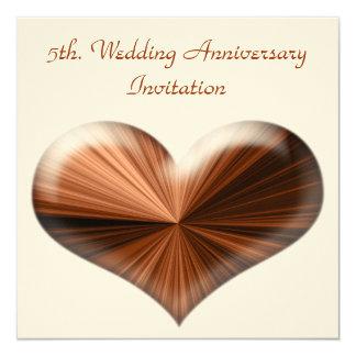 5th. Wedding Anniversary Invitation