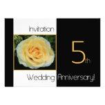 5th Wedding Anniversary Invitation - Yellow Rose