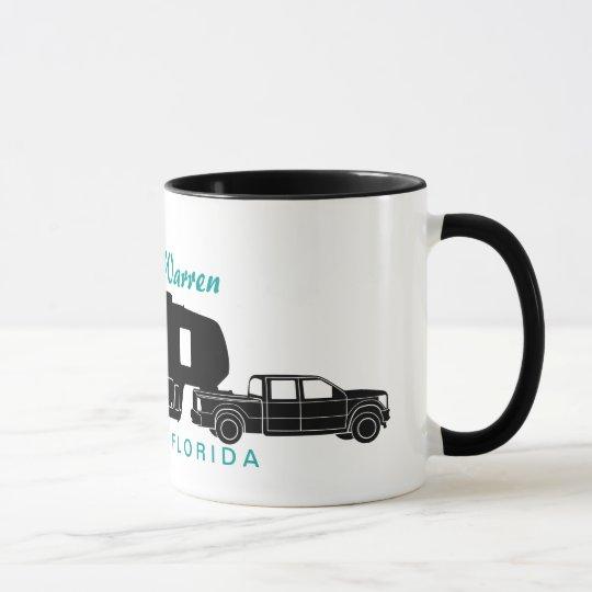 5th Wheel RV Silhouette Graphic Mug