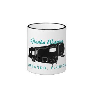 5th Wheel RV Silhouette Graphic Mugs