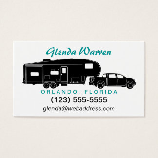 5th Wheel / Toy Hauler Silhouette Calling Card