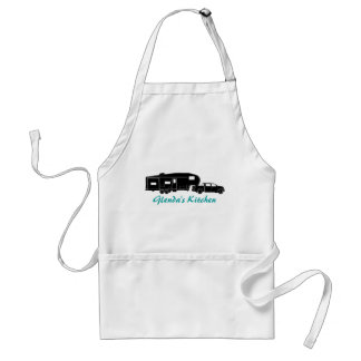 5th Wheel / Toy Hauler Silhouette Graphic Adult Apron