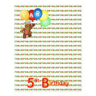 5thBirthday Party Royal Bear Scrapbook  Paper 3